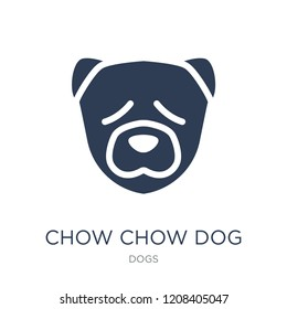Chow Chow dog icon. Trendy flat vector Chow Chow dog icon on white background from dogs collection, vector illustration can be use for web and mobile, eps10