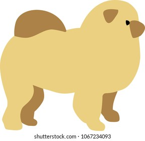 Chow-chow silhouette in comic style