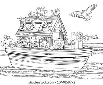Noah s Family stock illustration. Illustration of color - 15788044