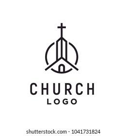 Christian Church Jesus Cross Gospel  logo design inspiration