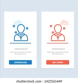Christian, Church, Male, Man, Preacher  Blue and Red Download and Buy Now web Widget Card Template