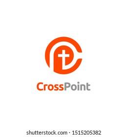 Christian Cross Church Initials Monogram C P CP PC  Logo design