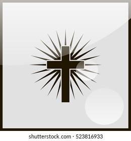 Christian cross icon.