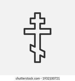 Christian Cross icon logo app, UI. Vector illustration. Eps 10.