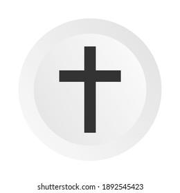 Christian cross icon vector illustration on white background