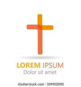 Christian cross logo