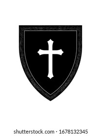 Royalty-Free (RF) Clipart Illustration of a Digital Collage Of Four Black  And White Celtic Crosses by Cory Thoman #214627