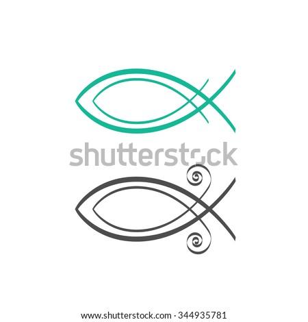 Christian Fish Symbol Abstract Logo Concept Stock Vector Royalty