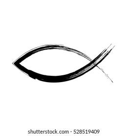 Christian fish symbol. Vector