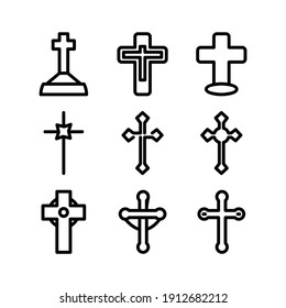 christian icon or logo isolated sign symbol vector illustration - Collection of high quality black style vector icons