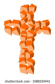 Christian made of orange cubes