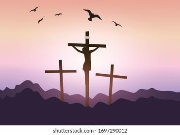 christian memorable holy week illustration