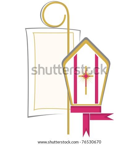 Christian Symbol Confirmation Stock Vector Royalty Free 76530670