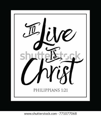 christian vector biblical typography design phillipians stock vector