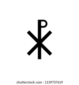 Christianity Chi Rho sign icon. Element of religion sign icon for mobile concept and web apps. Detailed Christianity Chi Rho icon can be used for web and mobile on white background