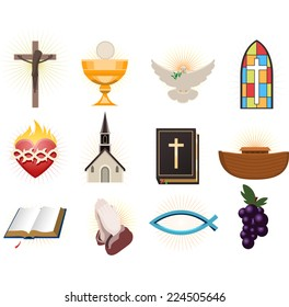 Christianity design elements.