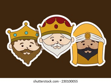 Christianity  design over brown background, vector illustration