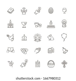 Christianity icon set. Religion related icons - Shutterstock ID 1667980312