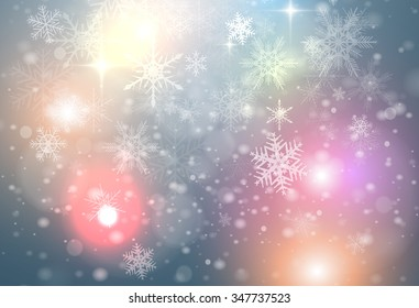 Christmas abstract background with snowflakes, new year vector background.