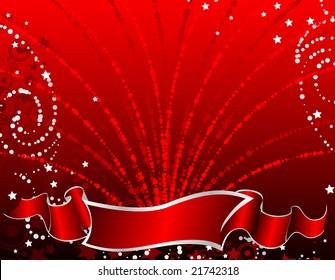 Christmas abstract banner. Illustration for design.