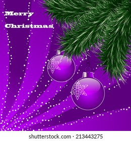 Christmas abstract vector illustration greeting card