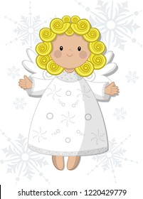 Christmas angel children's design, articulated doll
