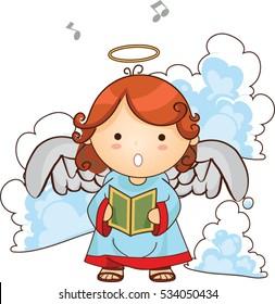 Christmas angel vector illustration