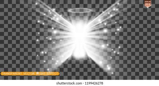 Christmas angel. Vector illustration. Angel on a transparent background.
