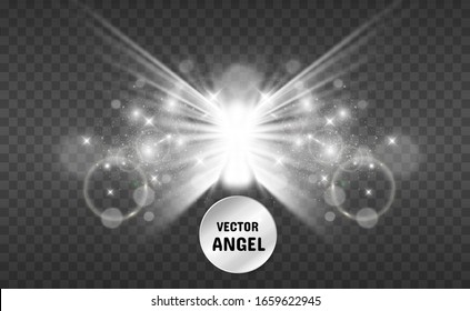 Christmas angel. Vector illustration. Angel on a transparent background.