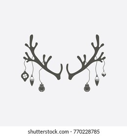christmas antler Icon. christmas sign