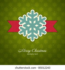 Christmas applique with snowflakes vector background. Eps 10.