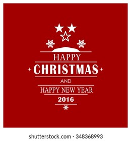 Christmas Award Star card, vector illustration.
