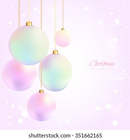 Christmas background with balls, ornaments. Vector illustration. EPS 10