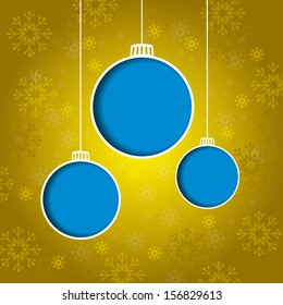 Christmas Background with Christmas Balls. Vector Illustration.