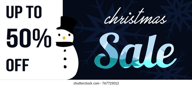 christmas background banner sale graphic vector