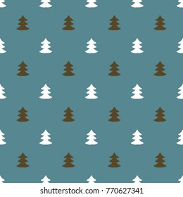 Christmas background with Cristmas Trees. Holiday seamless pattern