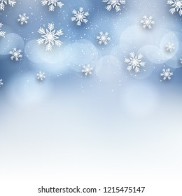 Christmas background with decorative snowflake design