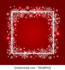 Christmas background design of snowflake with copy space vector illustration