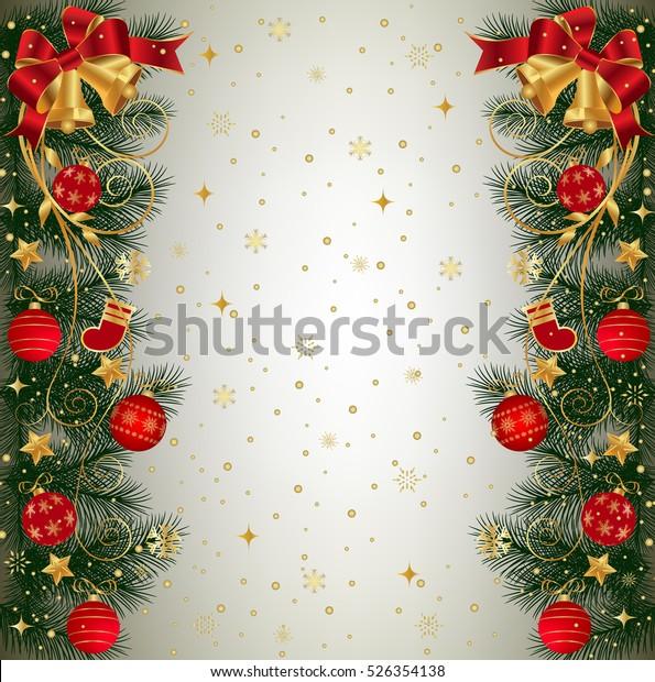 Image Vectorielle De Stock De Arrière Plan De Noël Avec