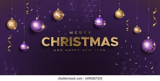 Purple Christmas Decor Images Stock Photos Vectors Shutterstock