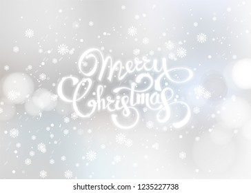 Christmas background greeting card. Vector color template with snow abstract illustration. Xmas holyday pattern ready for print