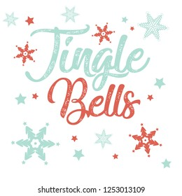 Christmas background with Jingle Bells in decorative type