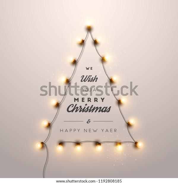 Christmas Lights Vector Free.Christmas Background Christmas Lights Vector Illustration
