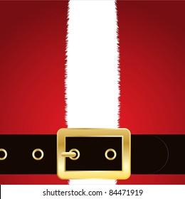 Christmas background of Santa's coat and belt