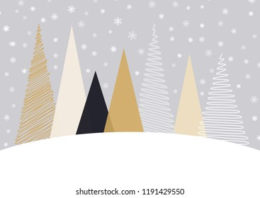 Christmas background with a Scandinavian tree design