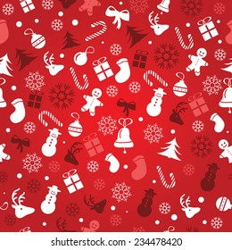 Christmas background, seamless tiling, great choice for wrapping paper pattern - vector