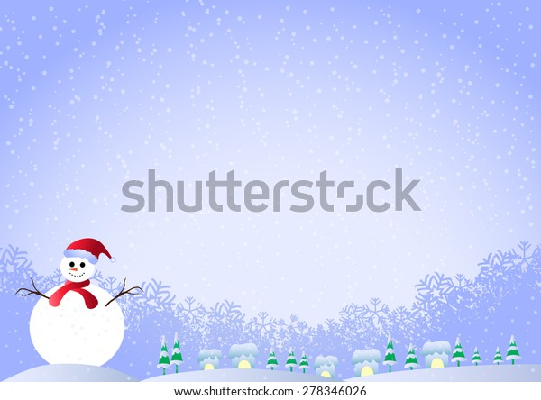 christmas background snowman snowflakes space 600w 278346026