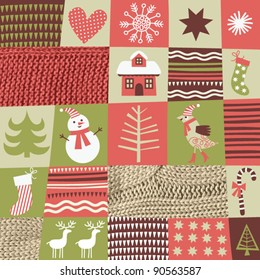 christmas background , style of patchwork