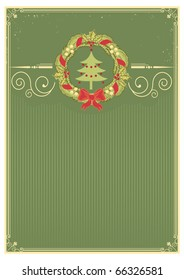 Christmas background for text. Vector vintage new year