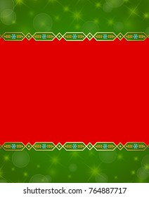 Christmas background in traditional norwegian rosemaling style